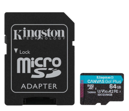 Karta pamięci microSD Kingston 64GB Canvas Go! Plus 170MB/70MB (odczyt/zapis)