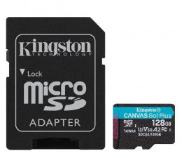 Karta pamięci microSD Kingston 128GB Canvas Go! Plus 170MB/90MB (odczyt/zapis)