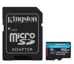 Karta pamięci microSD Kingston 256GB Canvas Go! Plus 170MB/90MB (odczyt/zapis)