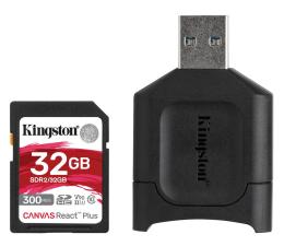 Karta pamięci SD Kingston 32GB Canvas React Plus 300MB/260MB/s