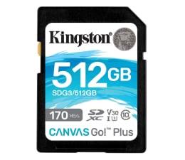 Karta pamięci SD Kingston 512GB Canvas Go! Plus 170MB/90MB (odczyt/zapis)