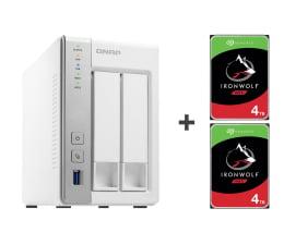 Dysk sieciowy NAS / macierz QNAP TS-231P 8TB (2xHDD, 2x1.7GHz, 1GB, 3xUSB, 2xLAN)
