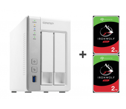 Dysk sieciowy NAS / macierz QNAP TS-231P 4TB (2xHDD, 2x1.7GHz, 1GB, 3xUSB, 2xLAN)
