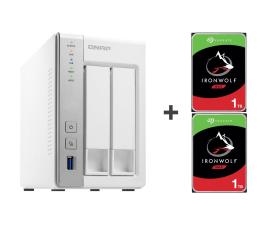 Dysk sieciowy NAS / macierz QNAP TS-231P 2TB (2xHDD, 2x1.7GHz, 1GB, 3xUSB, 2xLAN)