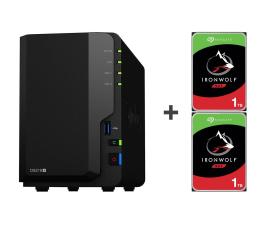 Dysk sieciowy NAS / macierz Synology DS218+ 2TB (2xHDD, 2x2-2.5GHz, 2GB, 3xUSB, 1xLAN)