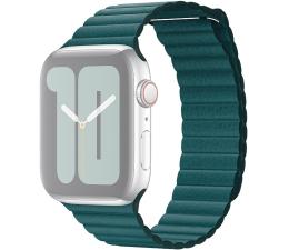 Pasek / bransoletka Apple Opaska Skórzana do Apple Watch pawie pióro