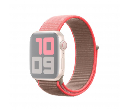 Pasek / bransoletka Apple Opaska Sportowa do Apple Watch neonowy róż