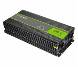 Przetwornica samochodowa Green Cell Przetwornica napięcia 12V na 230V 3000W/6000W