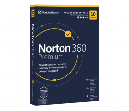 Program antywirusowy Symantec Norton 360 Premium 10st. (12m.)