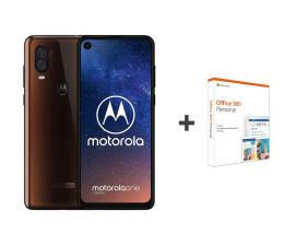 Smartfon / Telefon Motorola One Vision 4/128GB Dual SIM brązowy + Office 365