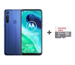 Smartfon / Telefon Motorola Moto G8 4/64GB Neon Blue + 64GB