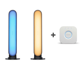 Inteligentna lampa Philips Hue White and Colour Ambiance (2szt. Play+Mostek)