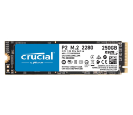 Dysk SSD Crucial 250GB M.2 PCIe NVMe P2