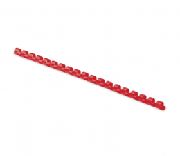 Grzbiety do bindowania Fellowes Grzbiet plastikowy okrągły 10mm czerwony, 100 szt.