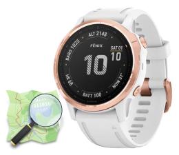 Zegarek sportowy Garmin Fenix 6S PRO różowe złoto biały Gorilla Glass OSM