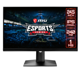 "Monitor LED 24"" MSI Optix MAG251RX czarny 240Hz"