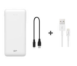 Powerbank Silicon Power Power Bank 20000mAh (USB-C, Lightning, biały)