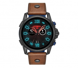Smartwatch Diesel On Brown Leather