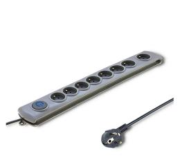 Listwa zasilająca Qoltec Quick Switch - 8 gniazd, 1,8m