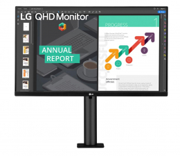 "Monitor LED 27"" LG 27QN880-B Ergo"