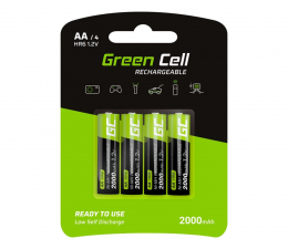 Akumulator uniwersalny Green Cell 4x AA HR6 2000mAh