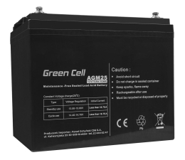 Akumulator do UPS Green Cell Akumulator AGM VRLA  12V 75Ah