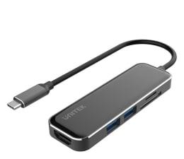 Hub USB Unitek HUB USB-C - 2x USB 3.1, HDMI, czytnik kart SD