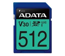Karta pamięci SD ADATA 512GB SDXC Premier Pro 100MB/s U3 V30S