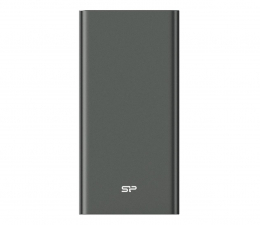 Powerbank Silicon Power QP60 10000mAh, tytanowy