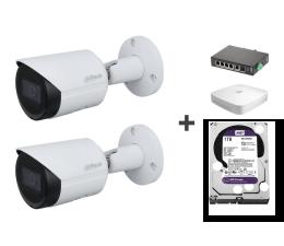 Kamera IP Dahua Zestaw do monitoringu (2x 2MP, NVR, 1TB, switch)