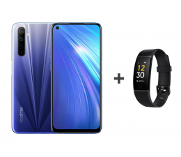 Smartfon / Telefon Realme 6 4+128GB Comet Blue 90Hz + Band 1