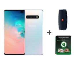 Smartfon / Telefon Samsung Galaxy S10+ White + JBL Charge 4 + Navitel