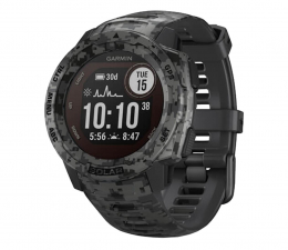 Zegarek sportowy Garmin Instinct Solar Camo Edition grafitowy moro