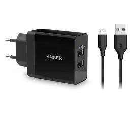 Ładowarka do smartfonów Anker Ładowarka sieciowa 2xUSB 24W + kabel microUSB