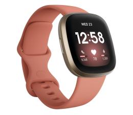 Smartwatch Fitbit Versa 3 złoto różowa + Fitbit Premium