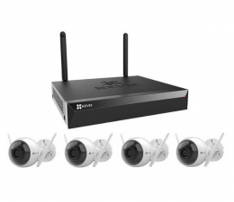 Inteligentna kamera EZVIZ Zestaw do monitoringu WiFi (4x C3WN FullHD + NVR)