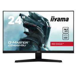 "Monitor LED 24"" iiyama G-Master G2466HSU Red Eagle Curved"