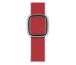 Pasek / bransoletka Apple Pasek skórzany z klamrą do Apple Watch szkarłatny