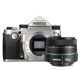 Lustrzanka Pentax KP srebrny + DA 35mm F2.4