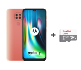 Smartfon / Telefon Motorola Moto G9 Play 4/64GB Purple Rose + 64GB