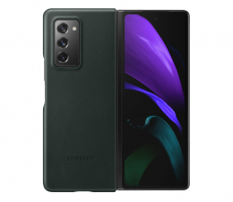 Etui / obudowa na smartfona Samsung Leather Cover do Galaxy Fold2 zielony