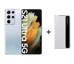 Smartfon / Telefon Samsung Galaxy S21 Ultra 12/128 Silver + Clear View Cover