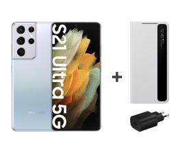Smartfon / Telefon Samsung Galaxy S21 Ultra 12/128 Silver+Clear Cover+Charger