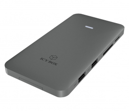 Stacja dokująca do laptopa ICY BOX USB-C - HDMI, czytnik kart, PD 100W, slot NVMe