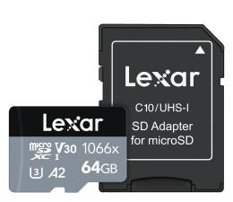 Karta pamięci microSD Lexar 64GB microSDXC High-Performance 1066x UHS-I A2 V30