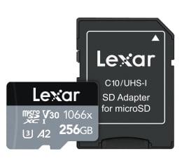 Karta pamięci microSD Lexar 256GB microSDXC High-Performance 1066x A2 V30 U3