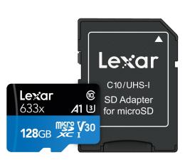 Karta pamięci microSD Lexar 128GB microSDXC High-Performance 633x UHS-I A1 V30