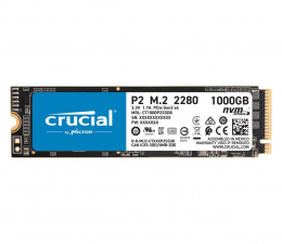 Dysk SSD Crucial 1TB M.2 PCIe NVMe P2