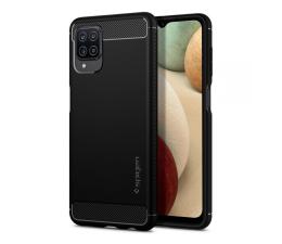 Etui / obudowa na smartfona Spigen Rugged Armor do Samsung Galaxy A12 czarny