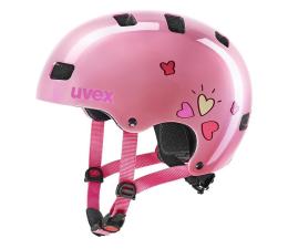 Ochraniacz/kask UVEX Kask Kid 3 różowy serca 55-58 cm